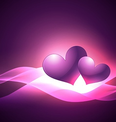 Simple and attractive heart background vector
