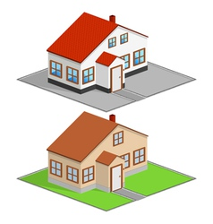 Isometric house vector