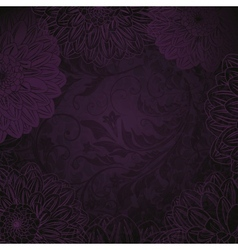 Antique purple floral background vector