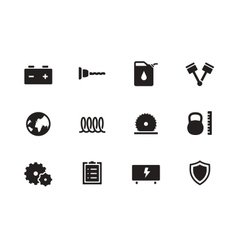 Tools icons on white background vector