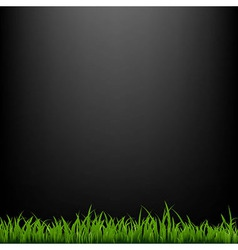 Black background with grass vector