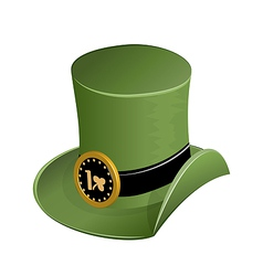 Green hat in saint patricks day vector