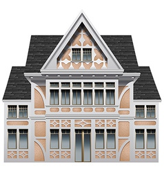 A big old building vector