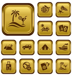 Vacation buttons vector