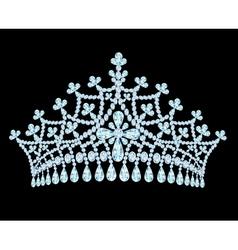 Feminine wedding tiara crown with tassels vector