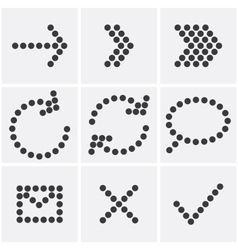 Dots icons vector