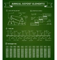 Chalkboard infographics elements vector