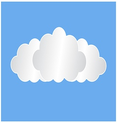Three white clouds vector