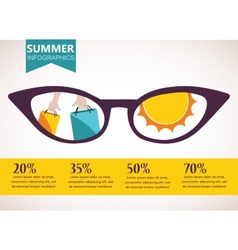 Summer sale infographics vector