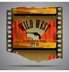 Western film piece vector