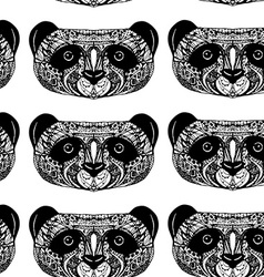 Panda on white background hand-drawing head vector