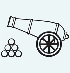 Medieval cannon vector
