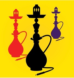 Different colors hookahs vector
