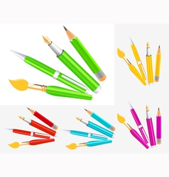 Writing tool collection vector