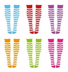 Knee-length socks vector