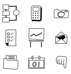 Hand drawing web icon vector