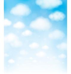 Blue sky cloud vector