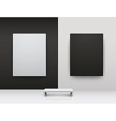 Dark and light gallery interio vector