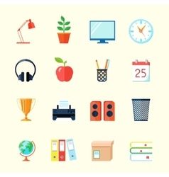 Room interior icons vector