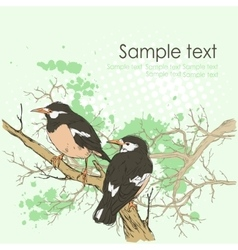 Background with birds and space for text vector