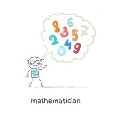 Mathematician thinks about numbers vector
