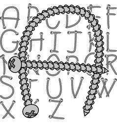 Screw alphabet vector