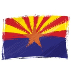 Grunge arizona flag vector