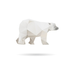 White bear isolated on a white backgrounds vector