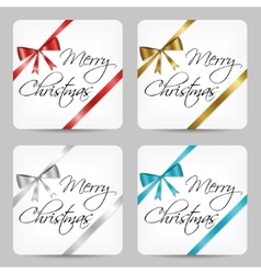 Merry christmas cards vector