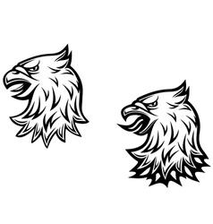 Heraldic eagle head vector