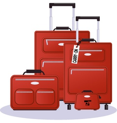 Luggage set vector