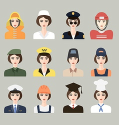 Set of icons of male profession for women vector