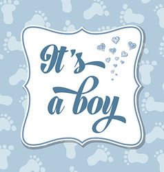Baby boy invitation for baby shower vector