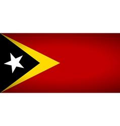 Flag of east timor vector