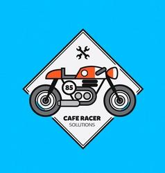 Vintage motorbike label vector