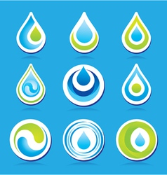 Water templates vector