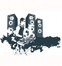 Modern dj vector