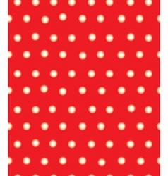 Red polka seamless vector