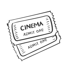 Tickets doodle drawing vector