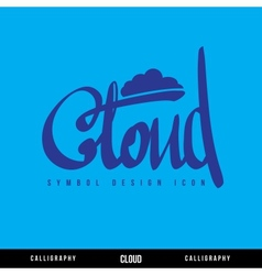 Cloud calligraphy concept vector