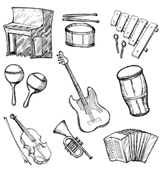 Set of instruments vector