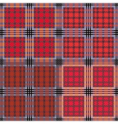 Four seamless checkered patterns vector