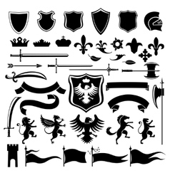 Heraldic set black vector
