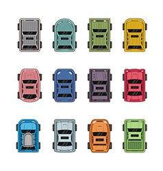 Top view automobiles vector