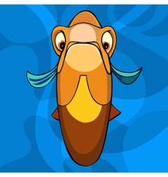 Cartoon orange fish snout vector