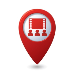 Cinema icon red map pointer vector