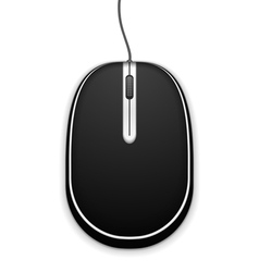 Black computer mouse vector