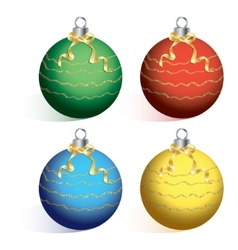 Christmas ball on white background cutout vector