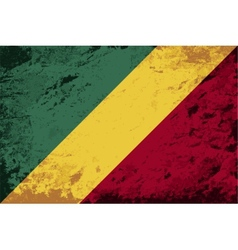 Republic of the congo flag grunge background vector