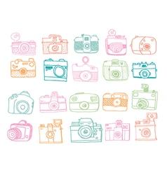 Doodle camera vector